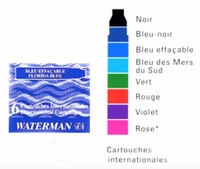 WATERMAN - CARTOUCHES D`ENCRE PM INTER 6